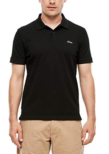 s.Oliver RED Label Herren Poloshirt aus Piqué Black 3XL