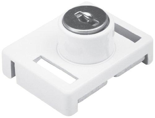 Defender Security U 9839 Keyed Sliding Window Lock, White Finish
