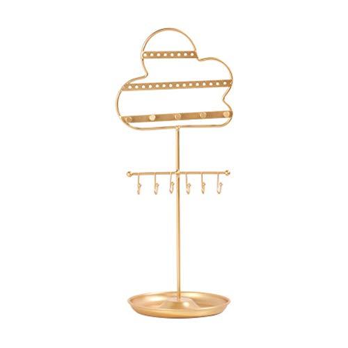 Aiglen Soporte para pendientes, árbol organizador de collares, soporte de exhibición de joyas para anillos, pulseras, aro y broche de horquilla