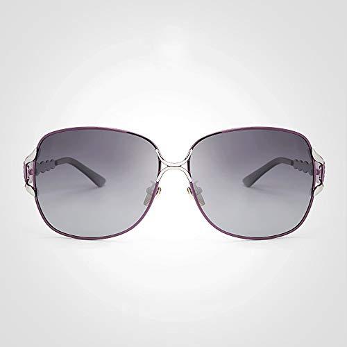 Sunglass Fashion Moda Gafas de Sol polarizadas para Mujer Gafas de Sol para Hombre (Color : Red, Size : Free)