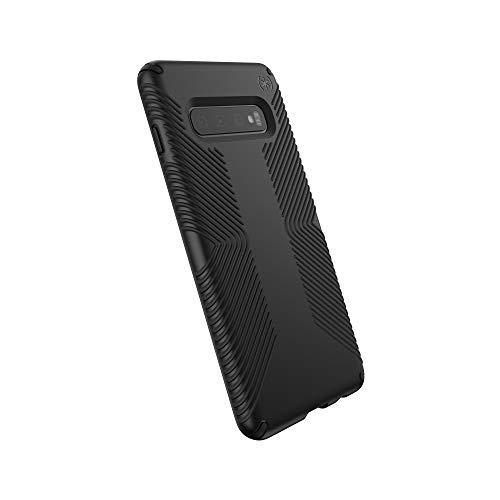 SPECK Presidio Grip para Samsung Galaxy S10, Capa Speck para Samsung Galaxy S10+ - proteção contra queda, capa fina de borracha antiderrapante, reforçada e texturizada - preta, SAMSUNG GALAXY S10 PLUS, BLACK/BLACK