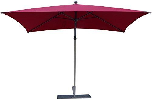 PEGANE Parasol rectangulaire déporté Coloris Bordeaux -Dim : H 250 x D 300 x 200/4 Baleines
