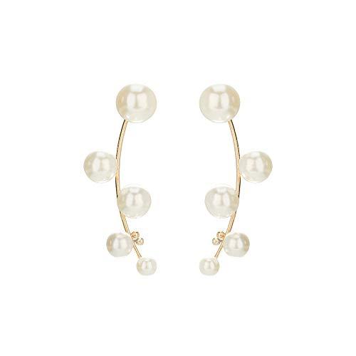 QYMX Orecchini Donna, Gioielli Cuore di Perle Fiore Geometria Orecchini per Donna Orecchini Dichiarazione Gioielli Natalizi