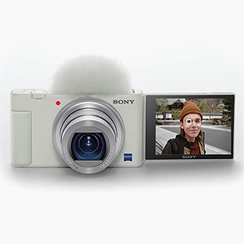 Sony ZV-1 Digital Camera for Content Creators, Vlogging and YouTube with Flip Screen, Built-in Microphone, 4K HDR Video, Touchscreen Display, Live Video Streaming, Webcam