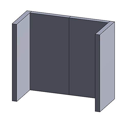 Kaminofen Schamottsteine passend für Justus 4646-8 - Set 4-teilig Feuerraumauskleidung