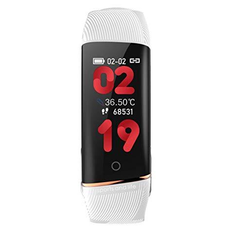 ADH Adecuado para Android iOS, E98 Relojes Inteligentes, Ritmo cardíaco y monitores de presión Arterial, rastreadores de Fitness, podómetros, brazaletes Inteligentes para Mujeres y Hombres,C