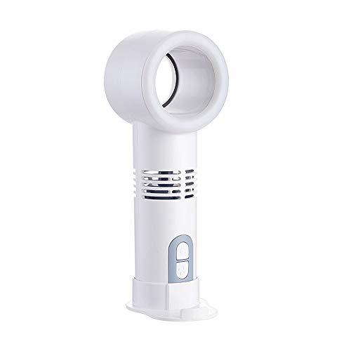 Jjoer Ventilateur A Main Ventilador con Luz Ventilador Silencioso Sin Aspas Ventilador Rowenta Alimentado por USB Ventilador De Torre Rowenta para Dormitorio White