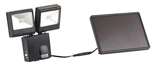 Luminea Projecteur solaire :Duo-Solar, Duo de projecteurs solaires extérieurs à LED avec détecteur de mouvements à infrarouge passif, 6 W, 480 lumen, IP44 (Projecteur)