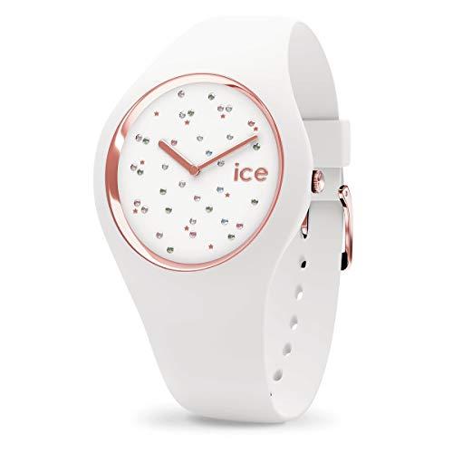 ICE-WATCH ICE Cosmos Star White - Reloj Blanco para Mujer con Correa de Silicona, 016297...