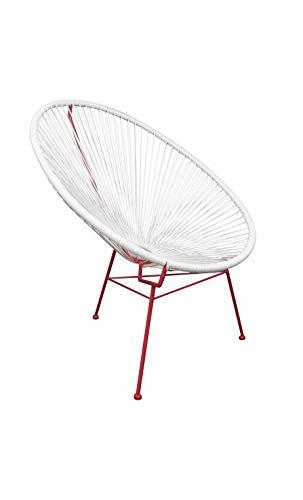 La Chaise Longue - Fauteuil Super Solarium Rouge Acapulco