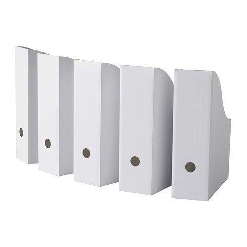 "Ikea Flyt 40 Magazine File Holder Paper Book Storage Office Desk Organizer White Case ""40 PACK"""