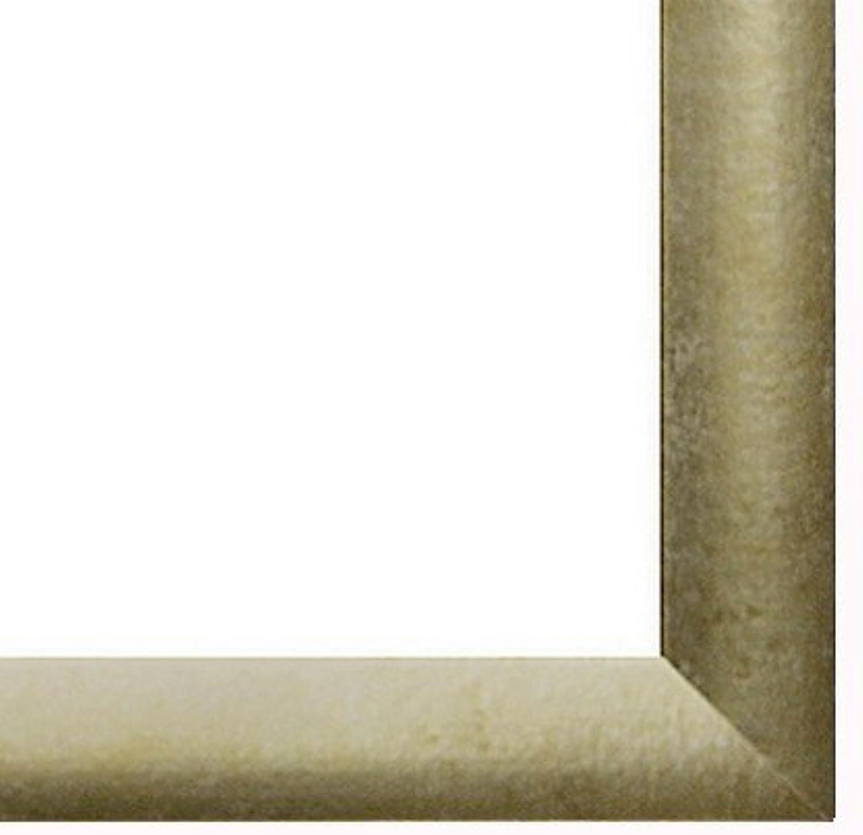 Marco Colorado 87 x 66 cm en MDF, marco en estilo moderno 66 x 87 cm, Color seleccionado  oro antiguo con vidrio acrílico antirreflector 1 mm