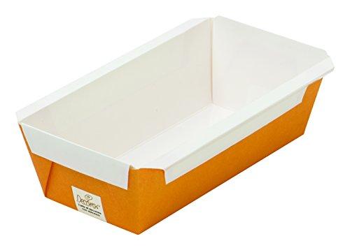 Decora 0320411 5ER-Pack PLUMCAKE PAPIERBACKFORMEN ORANGE 150X65X53MM