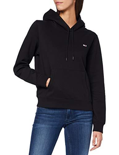 Tommy Jeans TJW Regular Fleece Hoodie Sweater, Noir, M Femme