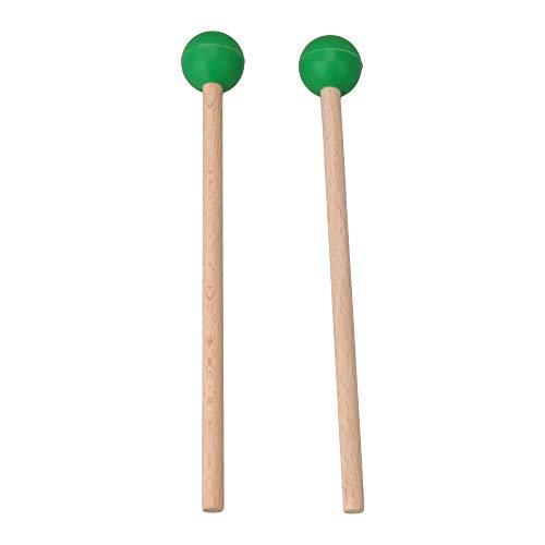 Yibuy Marimba Mallest - Palos de percusión (2 unidades, goma verde)