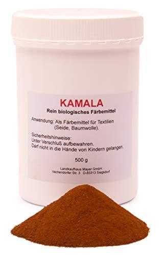 Landkaufhaus Mayer Kamala biologisches Fruchthaarpulver,Textilfärbemittel (500g)