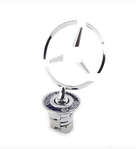 SFONIA 3D Car Front Star Bonnet Emblem Ornament Engine Hood Logo Metal Badge for Class C/E/S/W