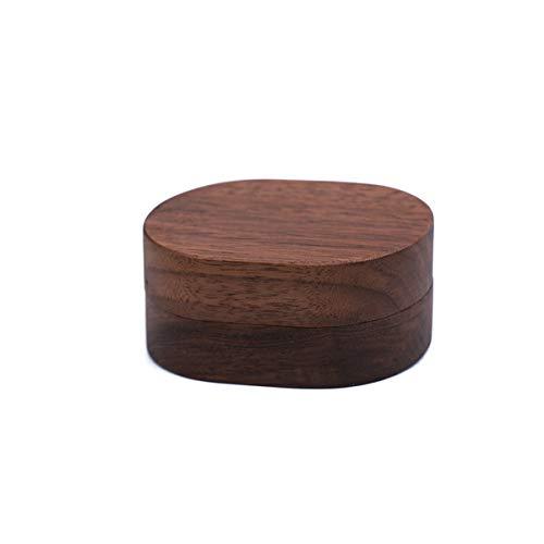 Zeagro Caja de anillo de boda de madera portador de anillo de compromiso titular de anillo de propuesta caja de anillo de personalización de joyería cajas de regalo