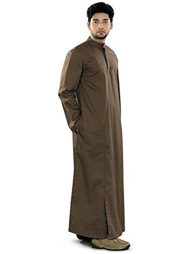 Desert Dress - Robe Kaftan été habillé modèle Homme Style Arabe Dishdasha Jubba Qatary Omani - Non communiqué, Marron