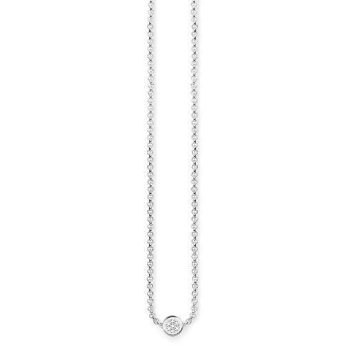 Thomas Sabo Damen-Kette mit Anhänger Glam & Soul 925 Silber Diamant (0.05 ct) weiß 45 cm - D_KE0003-725-14-L45v