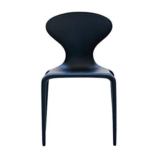 Moroso Supernatural Stuhl, tiefschwarz RAL9005 matt BxHxT 49x81x50cm