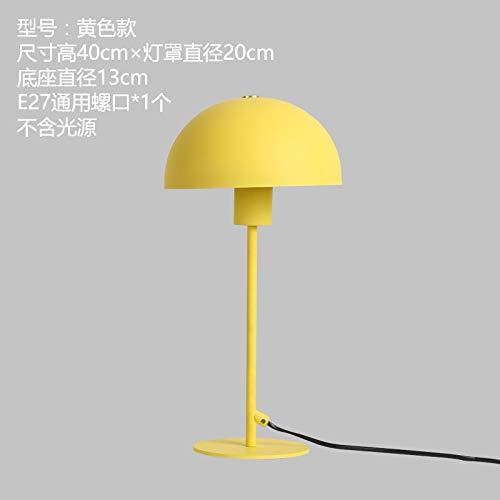 YU-K Chambre minimaliste étude chambre chambre d'enfants Bureau de travail, de tables de chevet couleur fer led lampes à économie d'énergie personnalisé,20 * 40cm, jaune, pas de source optique