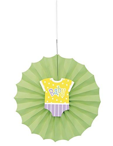 Unieke Party 61783-30cm Polka Dot Baby Douche Tissue Papier Decoratieve Ventilator
