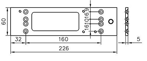 Montageplatte GEZE für TS 3000 V silber