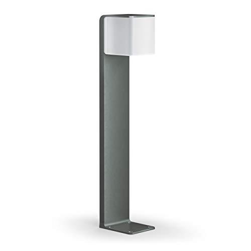 Steinel Wegeleuchte GL 80 LED iHF Cubo anthrazit, LED Gartenleuchte, 160° Bewegungsmelder, vernetzbar, per App bedienbar