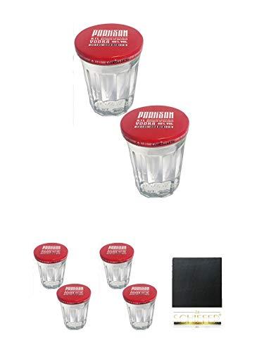 Partisan Sto Gramm Wodka 10 cl mit Deckel 6 Stück klassischer Wodkashot