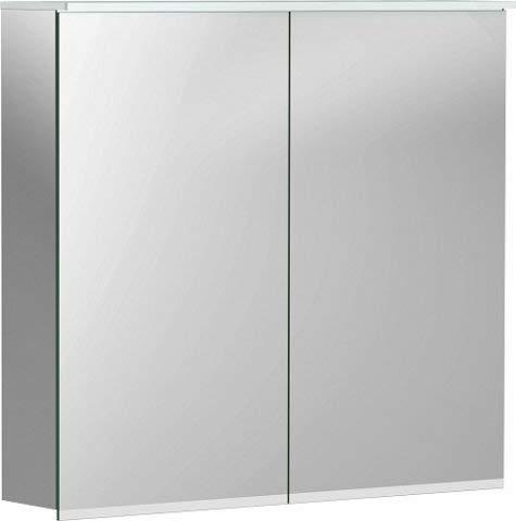 Keramag Geberit Option Plus Spiegelschrank mit Beleuchtung, Zwei Türen, Breite: 75 cm, 500206001