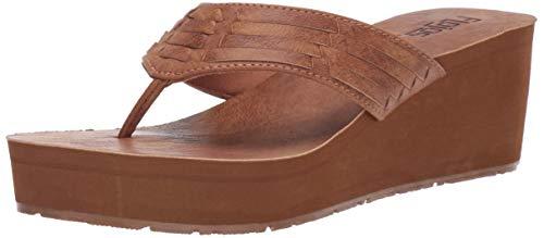 FLOJOS Women's JESS Flip-Flop, Tan, 8 Medium US