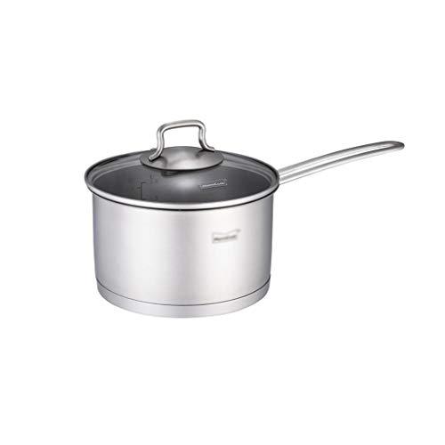 XinQing-Cacerola de Leche Acero Inoxidable Leche crisol de la Sopa Pot 18cm,...