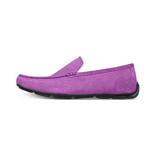 Alfani Mens Kendric Leather Square Toe Moccasins, Tornado Grey, Size 10.0