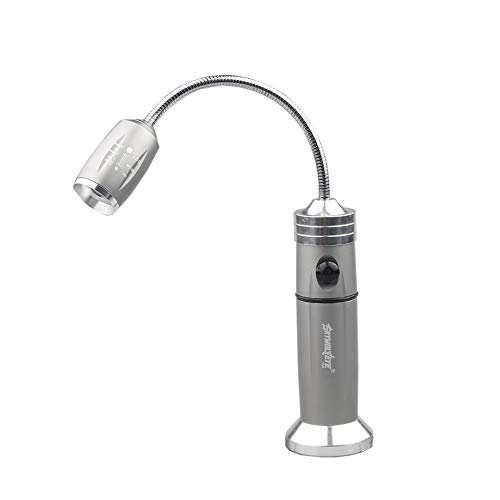 ZZYXiao Luces LED superbrillantes, base magnética para barbacoa con 360 grados de cuello de cisne flexible, 0, plata
