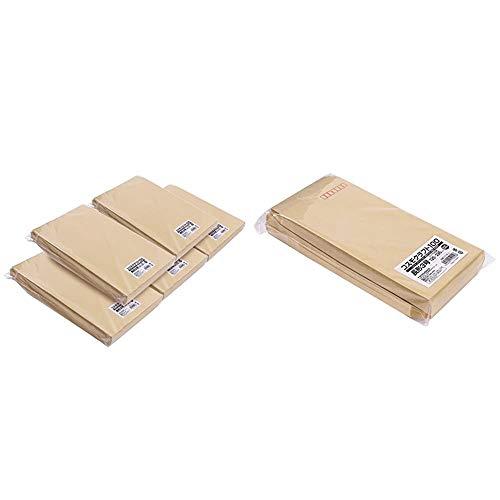 【セット買い】クラフト封筒 角形2号 A4サイズ(大) テープ付 500枚 59602 & クラフト封筒 長形3号 A4ヨコ3つ折 テープ付 100枚 KCNE-3