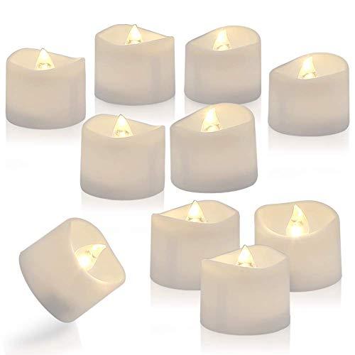 DOOK 48 Velas de LED Pequeñas con Efecto Llama, Velas Electricas Decorativas...