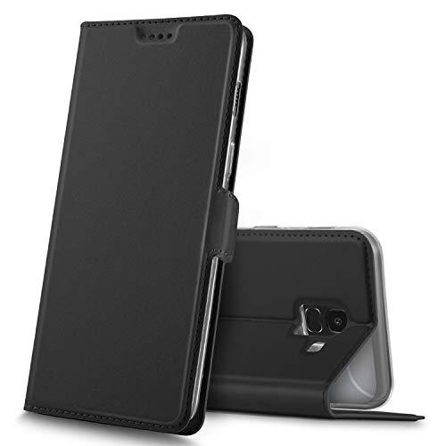 GeeMai Samsung Galaxy J6 2018 Hülle, Premium Samsung Galaxy J6 2018 Leder Hülle Flip Hülle Tasche Hüllen mit Magnetverschluss Standfunktion Schutzhülle handyhüllen für Samsung Galaxy J6 2018