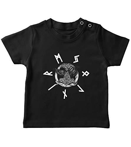 Camiseta y jersey de Odins Cuervo vikingo Viking Valhalla Odin Thor Nordmann Wolf Camiseta para bebé. 12-18 Meses