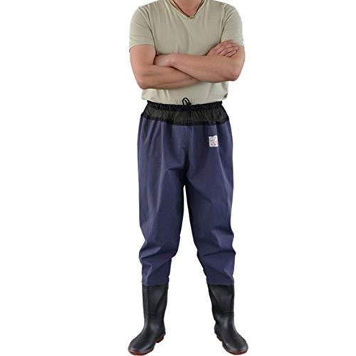 XBSXP Botas de Cadera, Vadeador de Cadera de Pesca de PVC, Vadeador de Cadera de Nailon Resistente con Cepillo, Bota de Cadera Ligera para Hombres y Mujeres, 37