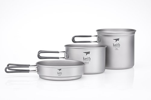 Keith Titanium Ti6014 3-Piece Pot and Pan Cook Set - 2400ml (Limited Time Promotion Price)