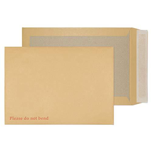 Purely Packaging 13935 Versandtasche Mit Papprückwand Haftklebung Manila C4 324 x 229 mm - 120g/m² | 125 Stück