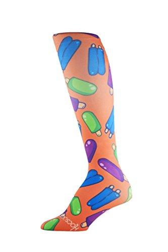 Hocsocx Womens/Girls Shin Liners UNDER shin pad socks for Football/Hockey (UK 2.5-8, Hocpops)