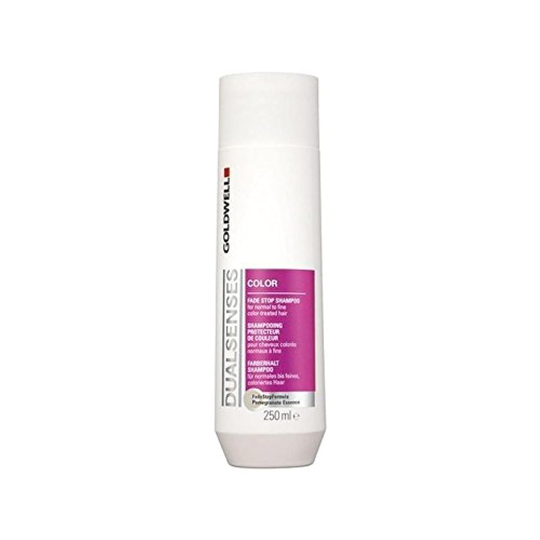 パーティション背骨ハンバーガーカラーシャンプー(250ミリリットル)を x2 - Goldwell Dualsenses Color Shampoo (250ml) (Pack of 2) [並行輸入品]