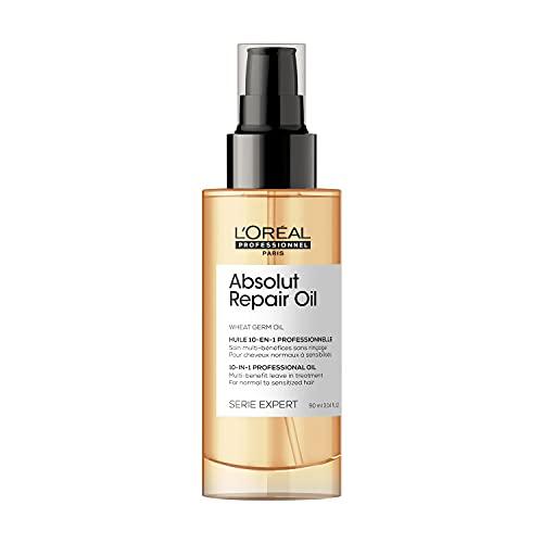 L'Oréal Professionnel   Aceite 10-IN-1 Oil para cabellos secos y dañados, Absolut Repair, SERIE EXPERT, 90ml