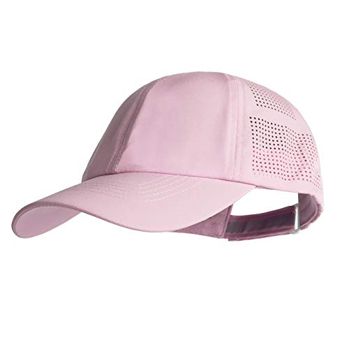 Women Quick Drying Baseball Cap Sun Hats Mesh Lightweight UV Protection for Outdoor Sports - Multiple Colors (#1 Light Pink)