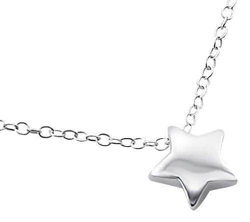 Laimons Collar para mujer Estrella Brillante Plata de ley 925