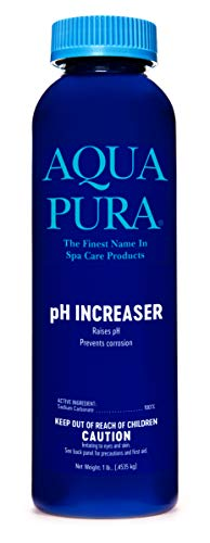 AQUA PURA pH Increaser - for Spas & Hot Tubs - Raises PH Levels and Corrects Acidic Water Conditions - 1 Lb Efficiency Smart Size