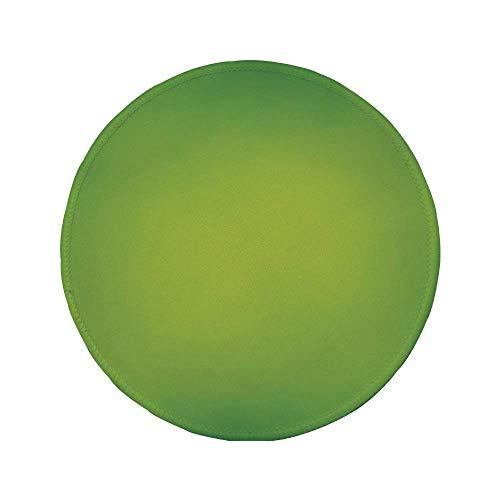 Rutschfreies Gummi-rundes Mauspad grün abstrakte weiche Farbtöne Summer Eco Nature Theme Verblasste Farbtöne dekorativ apfelgrün farngrün 7.9