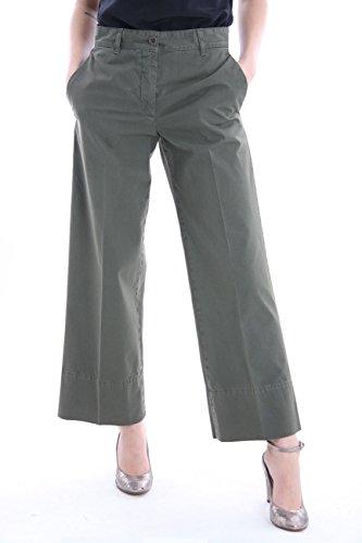 ASPESI Pantaloni Tasche America Verdi Militari, Donna, Taglia 38.